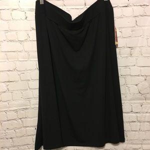 NWT Faded Glory Black Skirt 3x